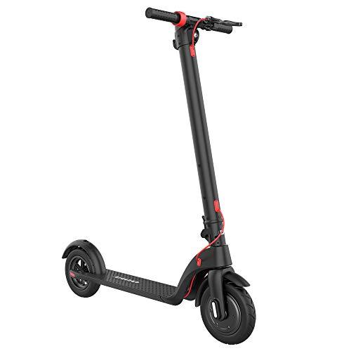 GRUNDIG Elektroroller X7, Faltbarer 10 inch e Scooter Erwachsene, Einzigartiges Design mit austauschbarer Batterie und Cruise Control, 3 Bremsen, Höchstgeschwindigkeit 25 km/h, bis zu 25 km Ausdauer
