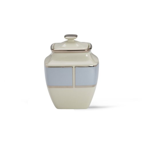 Lenox Blue Frost Platinum Banded Ivory China Square Sugar Bowl -  6338115