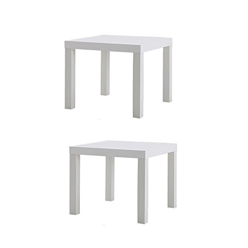 Ikea Table End Side White (2 Pack) Lack
