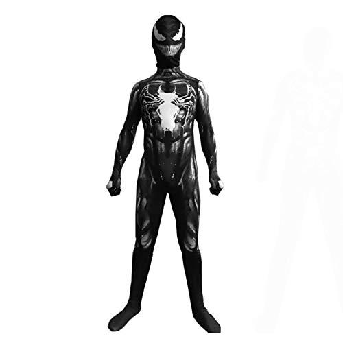 YUANY Disfraz de Venom para niños 3D Unisex Halloween Cosplay Mono Mono Fiesta Disfraces