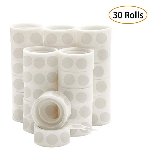 UPINS 3000 Pcs Point Dots Balloon Glue Removable Adhesive Point Tape, 30 Rolls Double Sided Dots Stickers for Craft Wedding Decoration