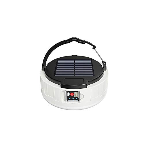SUNASQ Linterna de camping, Linterna de camping solar, Cargador de batería de emergencia alimentado por USB de 4 modos Impermeable Adecuado para senderismo al aire libre