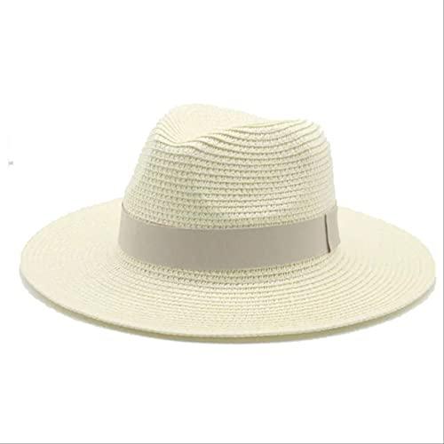 Lsthnm Sombrero De Paja De ala Ancha Gorras De Protección Solar Verano Anti UV Gorras De Playa De Viaje para Hombres Mujeres Playa Camping Pesca Senderismo