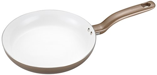 T-fal C72807 Initiatives Nonstick Ceramic Coating PTFE PFOA and Cadmium Free Scratch Resistant Dishwasher Safe Oven Safe Fry Pan Cookware, 12-Inch, Gold
