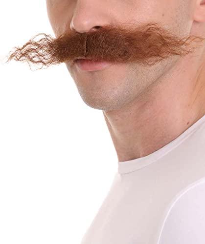 HPO Men's Dr Egg Head Mechanical Genius Curly Mustache Multiple Color...