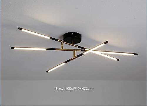Springhua Series de superficie Lámparas de techo de oro iluminación de la lámpara for Estudio Sala de estar Cocina 110V 220V nórdica Loft for el hogar (Emitting Color : Warm white)