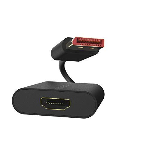 Hoperoad Adaptador DisplayPort a HDMI (DP a HDMI) 4K 60Hz UHD, compatible con tabletas, TV y monitor, fuente de reproducción y portátil
