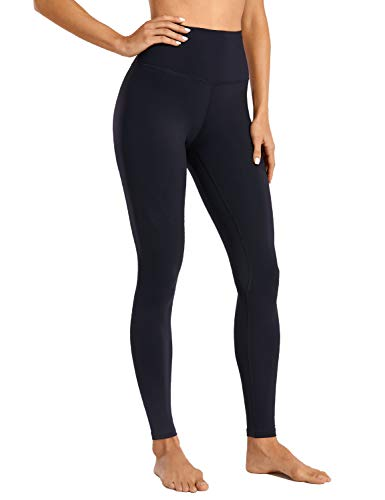 CRZ YOGA Women's Naked Feeling I Full-Length High Waisted Yoga Pants Workout Leggings - 28 Inches Black-R444A X-Small
