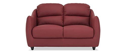 Durian Blaze Two Seater Sofa for Living Room (Burgundy)
