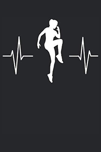 Aerobic Herzschlag EKG Fitness Geschenk Notizbuch (Taschenbuch DIN A 5 Format Liniert): Cooles Aerobic Fitnesstraining Notizbuch, Notizheft, ... Aerobic, Step-Aerobic und Bodytoning Fans.