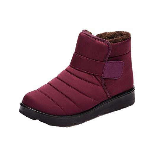 Botas de Nieve cálidas para Hombre, Terciopelo a Prueba de Nieve, Deslizamiento en Invierno, Zapatos Altos para Exteriores, Botas de Invierno Informales cómodas Antideslizantes