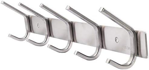 WEBI Sturdy Stainless Steel 304 Hook Rail Coat Rack with 3 Hooks, Great Home Storage & Organization for Bedroom, Bathroom, Foyer, Hallway, Brushed Finish