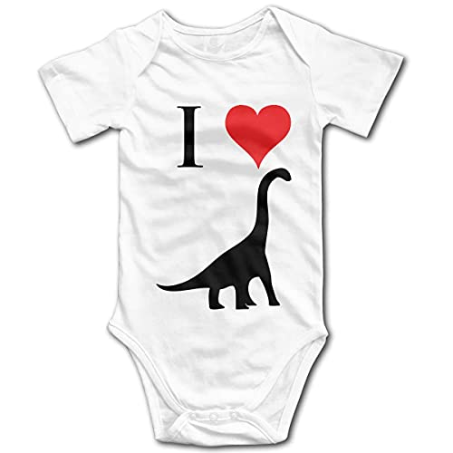 Jingliwang I Love Dinosaurs - Body de canastilla de algodón orgánico 100% para bebé recién nacido Brachiosaurus 0-24 meses