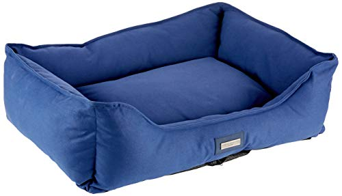 HUGO & HUDSON HHBED10007-L Hundebett, Canvas, Größe L, Blau