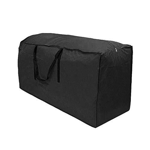 Garden Cushion Storage Bag, Black Heavy Duty Waterproof Outdoor Cushion Cover for Garden Furniture Cushions, Christmas Trees Storage Bag