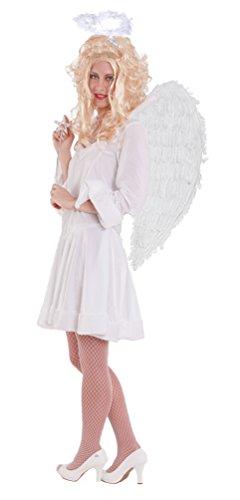 Karneval-Klamotten Engel Kostüm Damen sexy kurz weiß Karneval Engelskostüm Damenkostüm Kleid