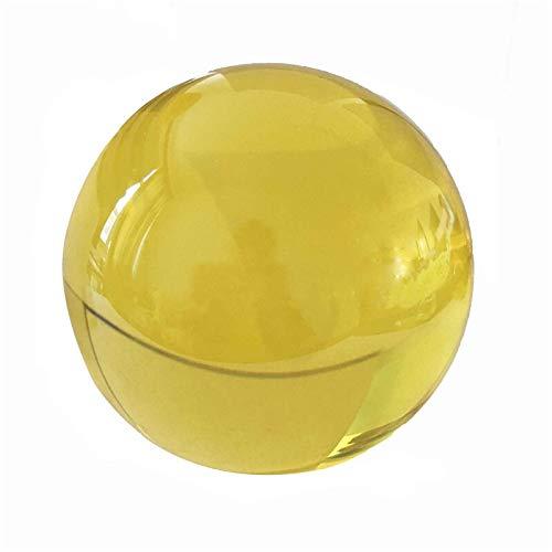 CROSYO 5pcs 40mm Topaz Color K9 Fengshui Bola de Cristal de Cristal for la decoración del hogar y la Boda (Color : Topaz, tamaño : 40mm)