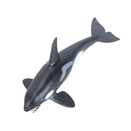 Balacoo Balena di Plastica Giocattolo Acquario Ornamento Acquario Decorazioni per Pesci Figure Modello Mare Giocattolo Regalo di Compleanno Festa Scuola Progetto Favori Giocattoli (Orca)