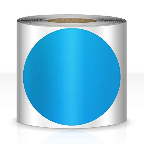 200 PCS Dot Shaped Floor Marking Tape 3.5' Vinyl Floor Dot Removable Classroom Line Marker Social Distancing Dot Sticker Blue