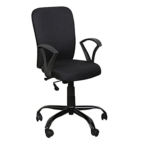 AB DESIGNS DESIGNS STARTS HERE - Office Chair/Study chair/revolving chair/Computer Chair for Home Work Executive Base Metal Powder Coated seat Height Adjustable & Comfortable Fixed armrest (black)