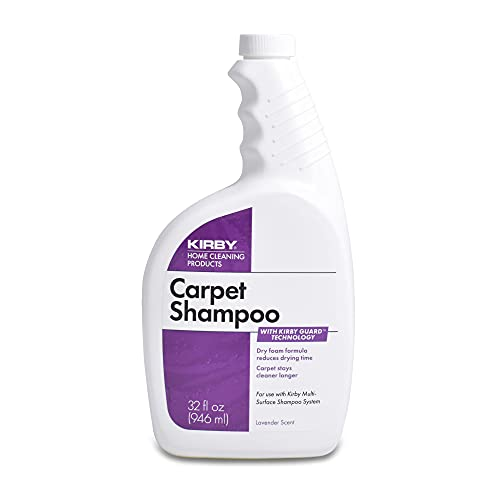 Kirby Shampoo & Stain Carpet Shampoo-Rug Remover & Odor Eliminator, Smell Neutralizer Solution-Remove Dog and Cat Stains, 32oz, Packing may Vary