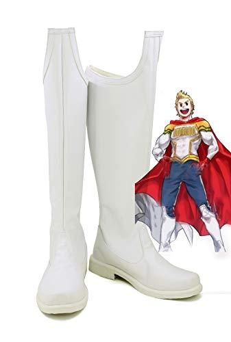 Boku No Hero Academia My Hero Academia Cosplay Shoes Lemillion Mirio Boots High Heel Shoes Zipper Up Shoes 40