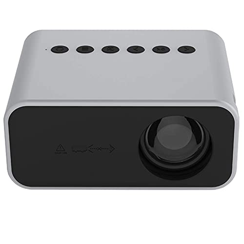 ZHAOHGJ Worth Having - Mini proyector LED Home Theatre Video Beamer Supports 1080p USB Audio Portátil Portátil Player Reproductor Niños, Blanco