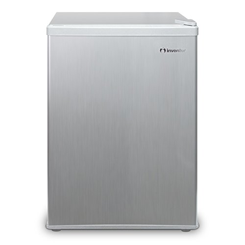 Inventor Mini Fridge 66L, Silver, Eco-Friendly A+, Ideal for kitchen, bedroom or office area.
