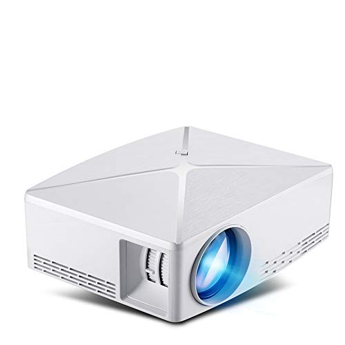 DZSF Mini Projector C80 Up, 1280X720 Resolutie, Android WIFI Proyector, LED Draagbare HD 3D Beamer voor Home Ondersteunde 1080P(wit)