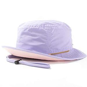 (撥水 手洗いOK)BASIQUENTI(ベーシックエンチ) サファリハット Teflon Safari Hat 帽子 男女兼用 キッズサイズ ラベンダー(裏:ピンク)
