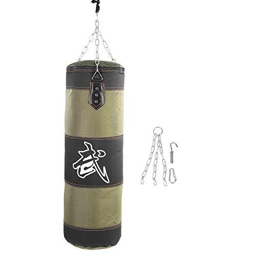 Dilwe Punch Sandsack, Strapazierfähiger Boxsack aus Schwerer Canvas Tasche für Trainingsübungen Fitness und Sport(1.2m-Grün)
