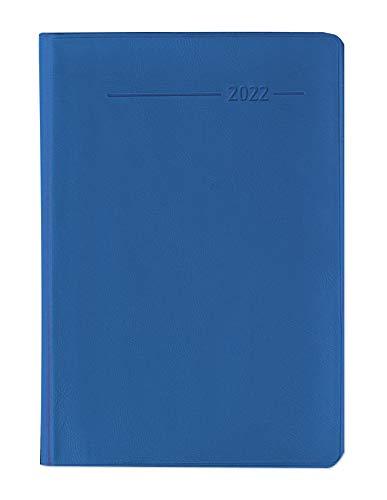 Taschenkalender Buch PVC aquamarin 2022 - Büro-Kalender 8x11,5 cm - 1 Woche 2 Seiten - 144 Seiten - Notiz-Heft - Alpha Edition