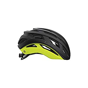 Giro Helios Spherical Adult Road Bike Helmet - Matte Black Fade/Highlight Yellow (2021), Medium (55-59 cm)