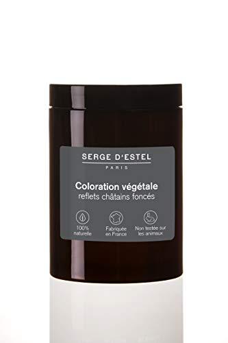 Henné Chatain Foncés 400g Coloration Végétale au Henné Reflets Chatain Foncés Fabriqué en France 100% Naturel Non Testé sur les Animaux.