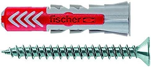 Fischer DUOPOWER 5 x 25 S - universele pluggen met schroef voor het bevestigen van hangkasten, wandplanken in beton, metse...