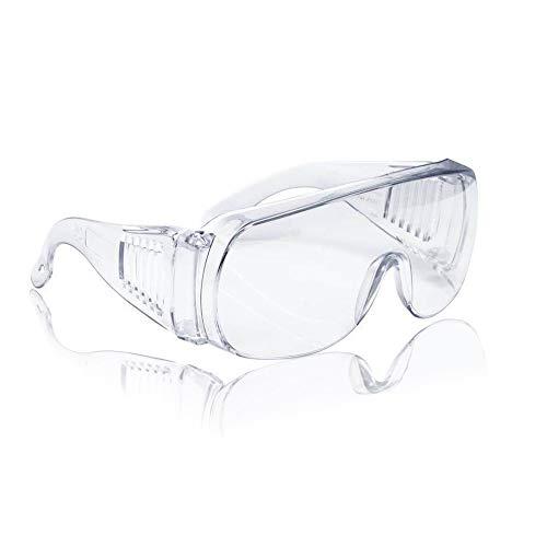 Super More Anti-Fog Safety Glasses Clear Lens Wide Frame Eye Protection for Splash lab goggles