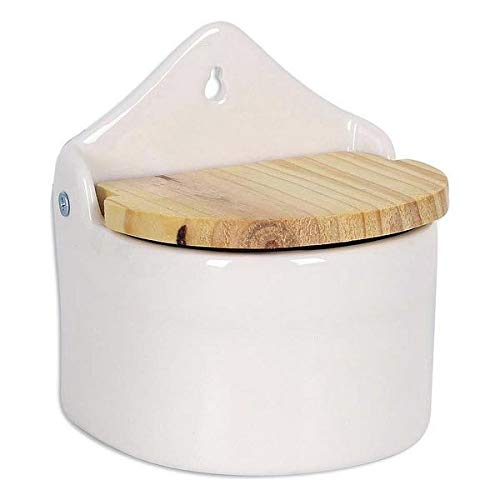 "Dropex Salzbehälter ""Azahara"" mit 13-cm-großen Holzdeckel, 47x 42x 43cm"