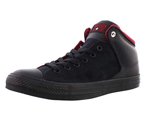 Converse Men's Chuck Taylor All Star High Street Space Explorer Sneaker, Black/Black/Enamel Red, 6.5 M US