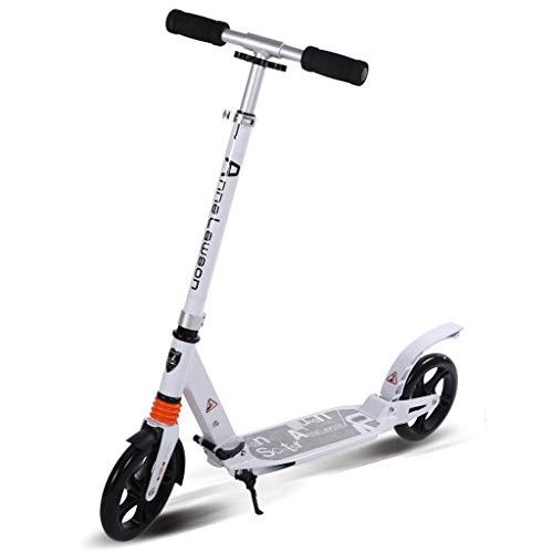 Scooter de pie Adulto Vespa de la rueda grande con correa for el hombro suave y rápido instantáneo Ride Fold for llevar a cabo portátiles ligeros no eléctricos for adultos scooter de dos ruedas Scoote