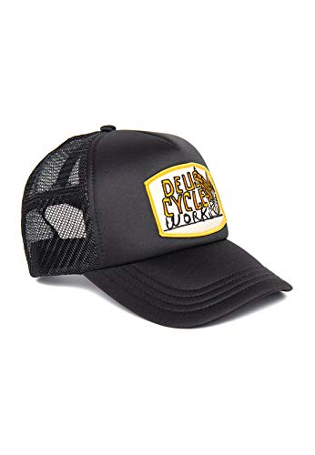 Deus Trucker Cap Come Down Trucker DMF97968-BLK - Gorra, Color Negro