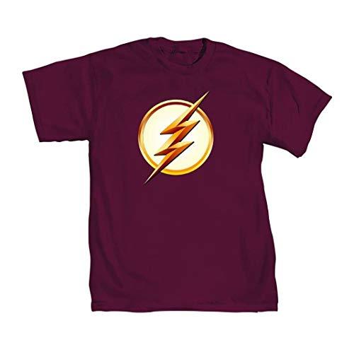 DC Comics Flash TV Season 2 Lightning Bolt LogoCamiseta Roja Para Hombre | M