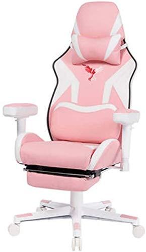 SJZLMB Racing silla for juegos estilo, sillas ergonómicas de ordenador Ejecutivo respaldo alto de la PU de la silla de cuero escritorio con soporte lumbar apoyo for la cabeza Masaje Butaca de juego fo