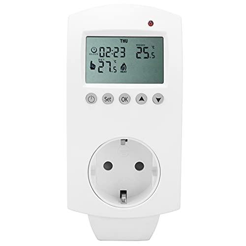 Termostato enchufable WIFI Controlador de temperatura de calefacción programable LCD 16A AC230V Interruptor de termostato Salida de termostato para calefacción doméstica