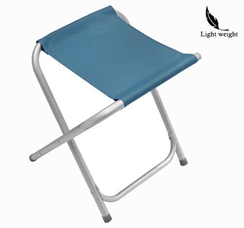Homecall - Taburete de camping plegable de aluminio (azul)