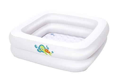 DFKDGL Klapppool Swimmingpool, quadratisches Planschbecken, aufblasbarer Pool, Babybadewanne 86 * 86 * 25CM Kinder Infa Ideal für alle Kinder und Erwachsene