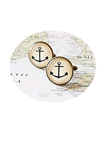 Cufflinks-anchor boutons de manchette Boutons de manchette pour mariage. Plage nautique. Pour Hommes.