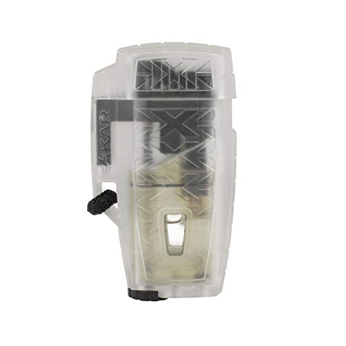 Xikar Stratosphere II High Altitude Lighter, Single Jet Flame, Windproof, Ergonomic Design, Durable and Dependable, Clear