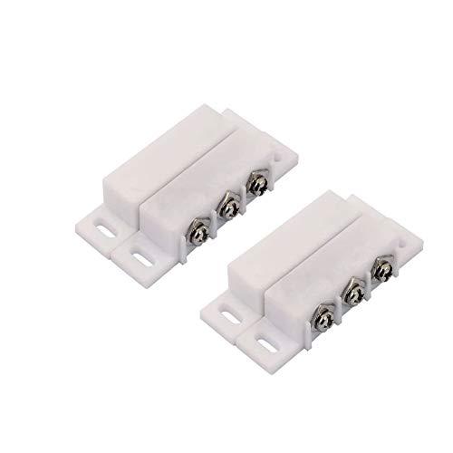 Interruptor de 2 piezas de la caña de alarma normalmente abierto cerrado NC NA ventana de la puerta de seguridad del sensor de contacto del kit del sistema DC 5V 12V 24V
