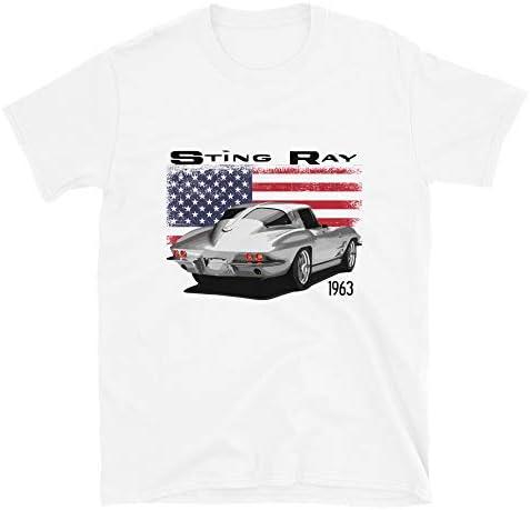 JG Infinite 1963 Corvette Sting Ray Short Sleeve Unisex T Shirt White product image