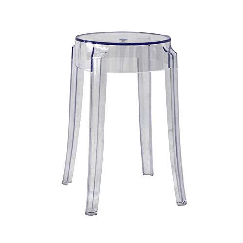 GE&YOBBY Moderne Kunststoff hocker,Transparente Bunte hocker Acryl kristall Haushalt Stuhl Kreative Mode-barhocker -A 26x46cm(10x18inch)
